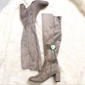 Liz Claiborne | Leyla taupe over the knee boots